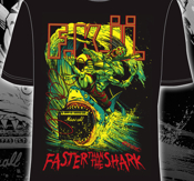 F.K.Ü - T-SHIRT, FASTER THAN THE SHARK