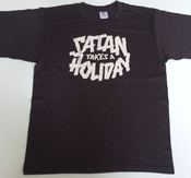 SATAN TAKES A HOLIDAY - GIRLIE, LOGO (USED BLACK)