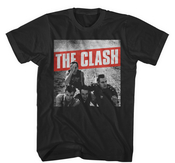 THE CLASH - T-SHIRT, BLACK WHITE COMBAT ROCK